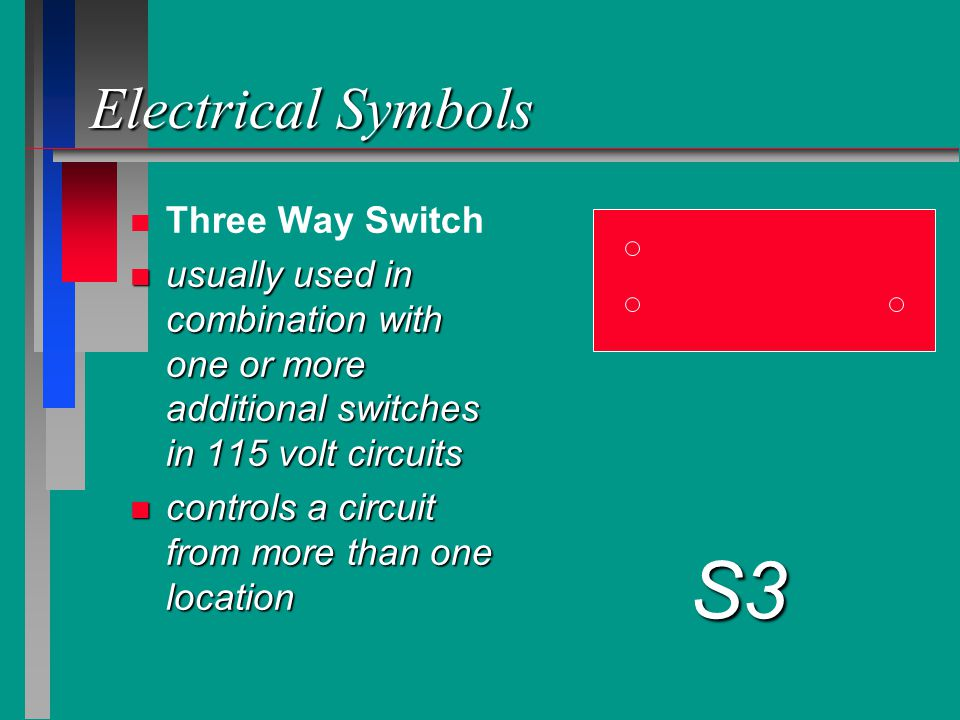 S3 Electrical Symbols Three Way Switch