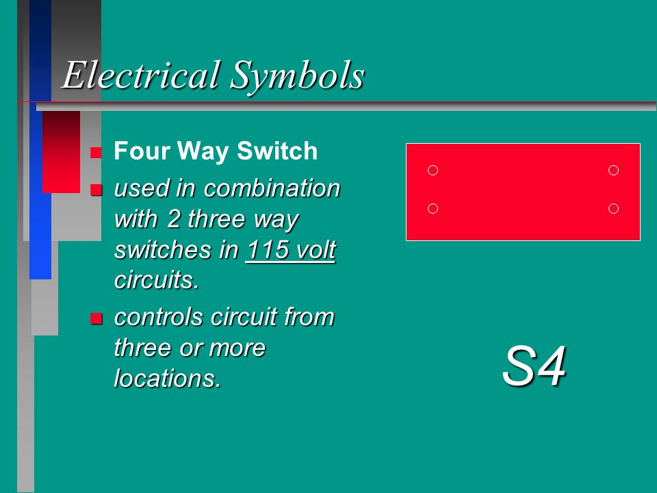 S4 Electrical Symbols Four Way Switch
