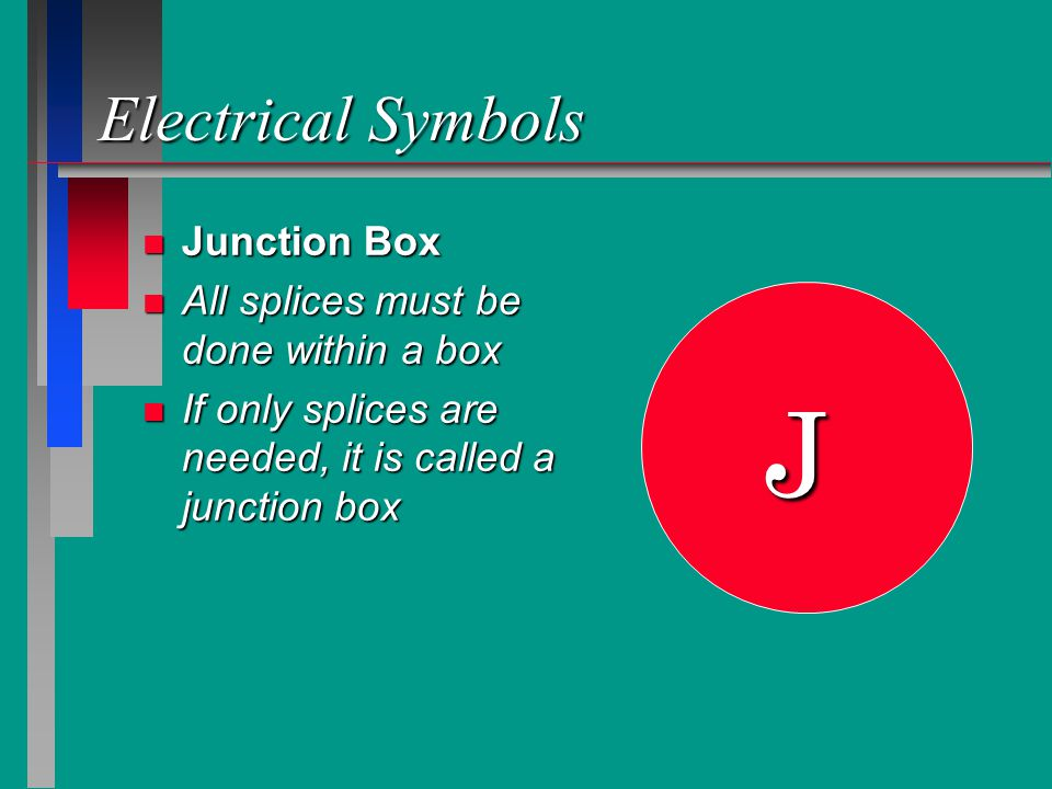 J Electrical Symbols Junction Box