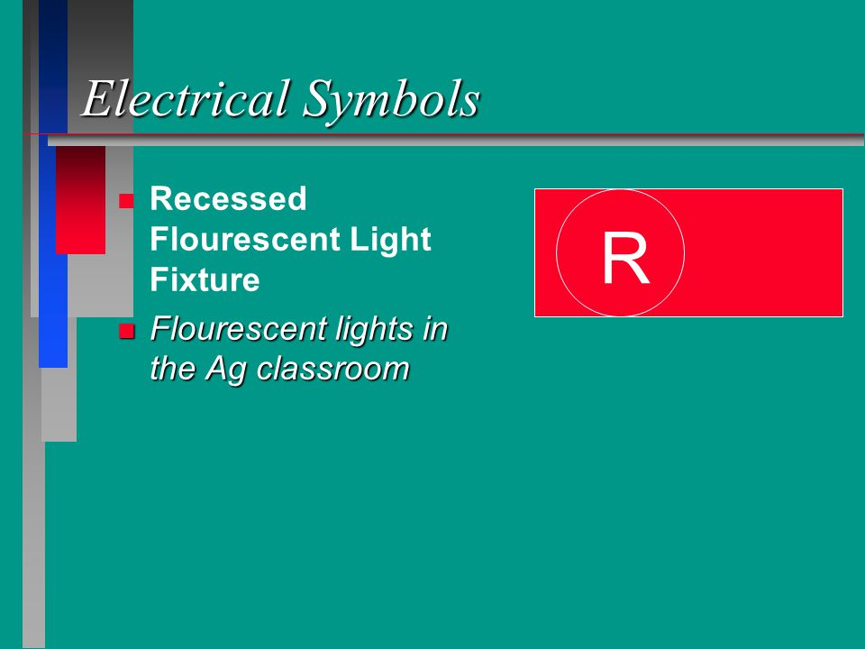 R Electrical Symbols Recessed Flourescent Light Fixture
