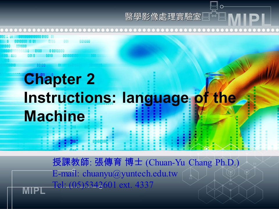 Chapter 2 Instructions: language of the Machine