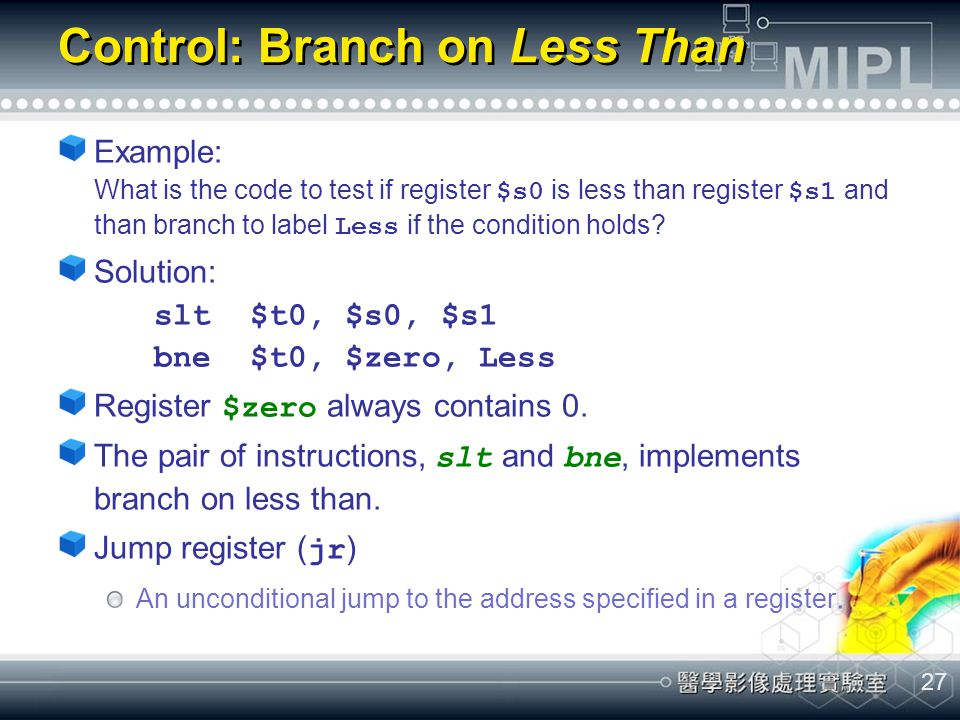 Control: Branch on Less Than