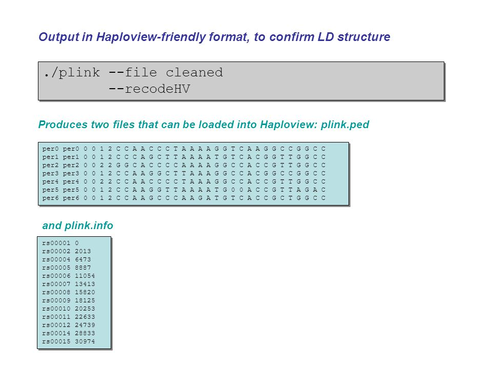 PLINK: a toolset for whole genome association analysis - ppt video