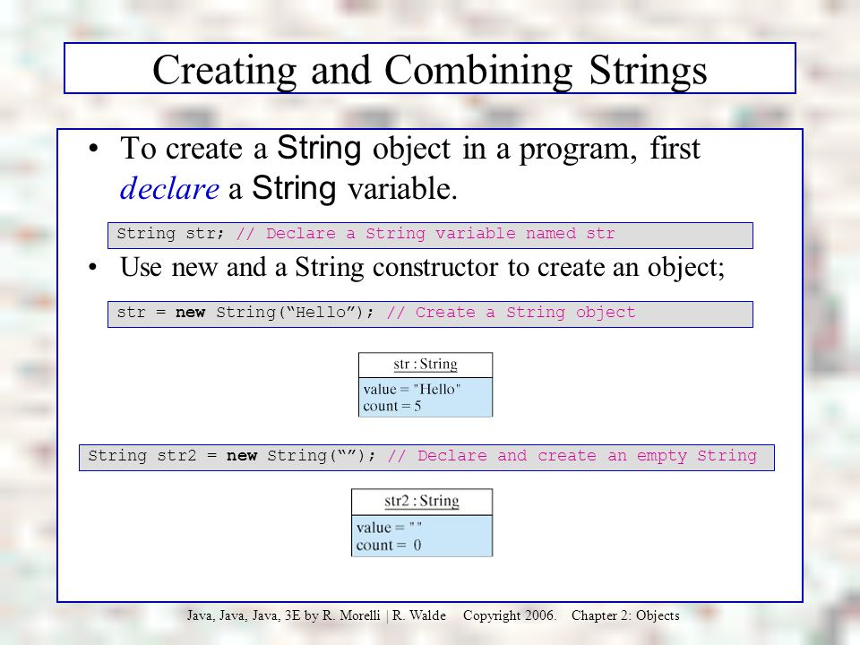 Creating and Combining Strings