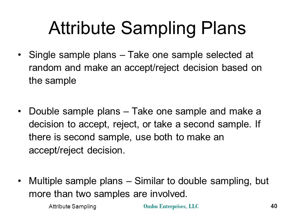 single sampling plan