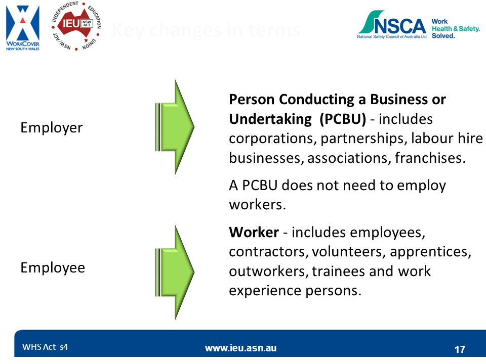 Key changes in terms Employer. Employee.