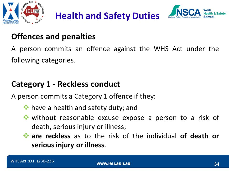 Health and Safety Duties