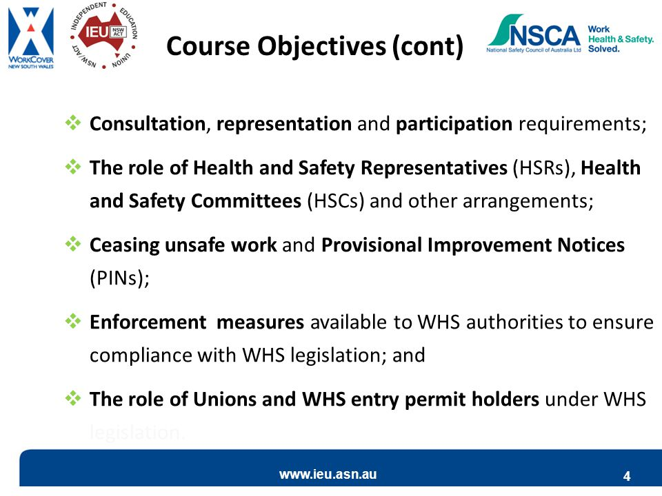 Course Objectives (cont)