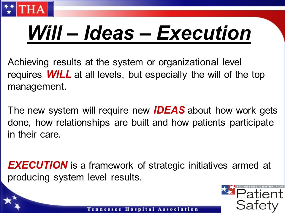 Will – Ideas – Execution