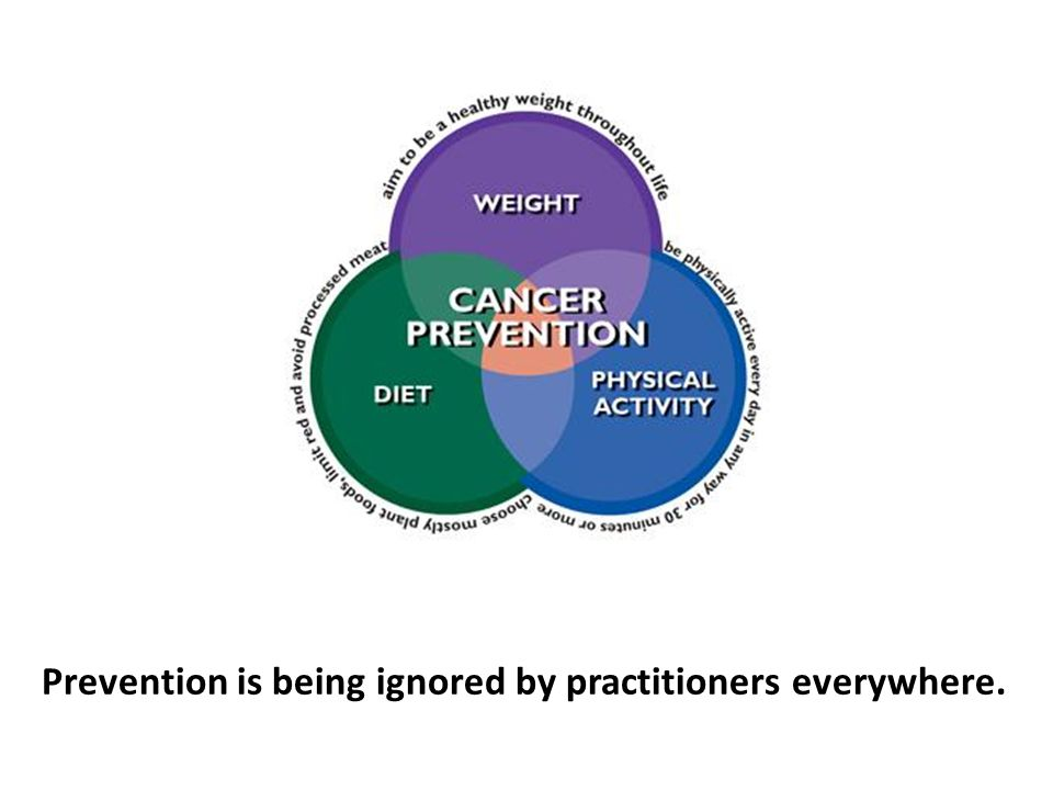 Prevention is being ignored by practitioners everywhere.
