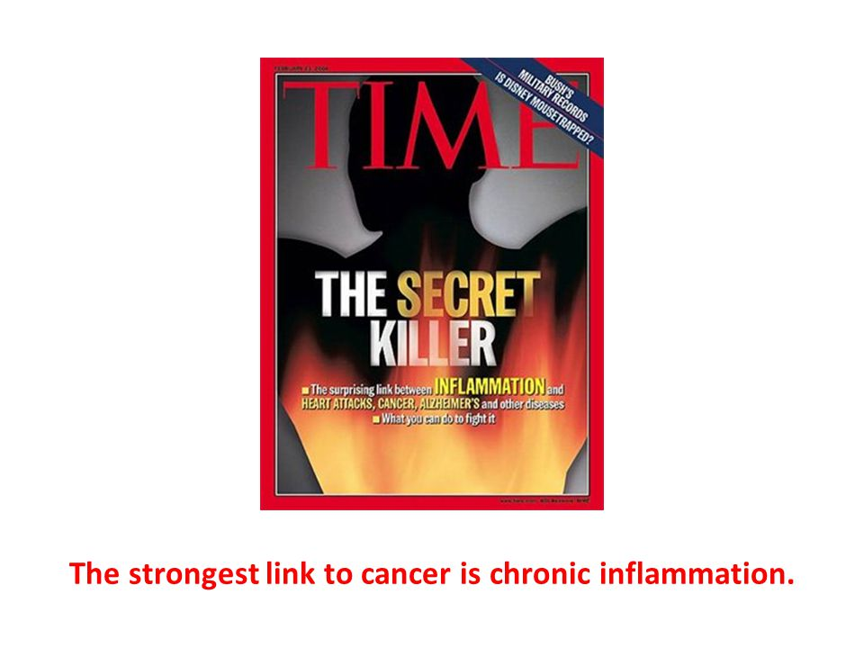 The strongest link to cancer is chronic inflammation.