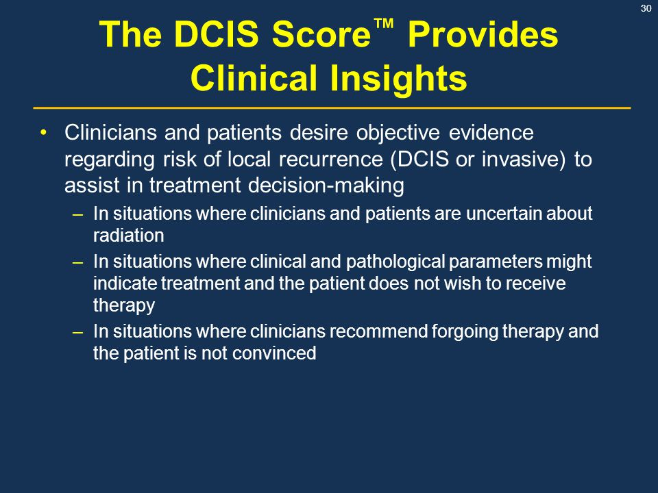 The DCIS Score™ Provides Clinical Insights