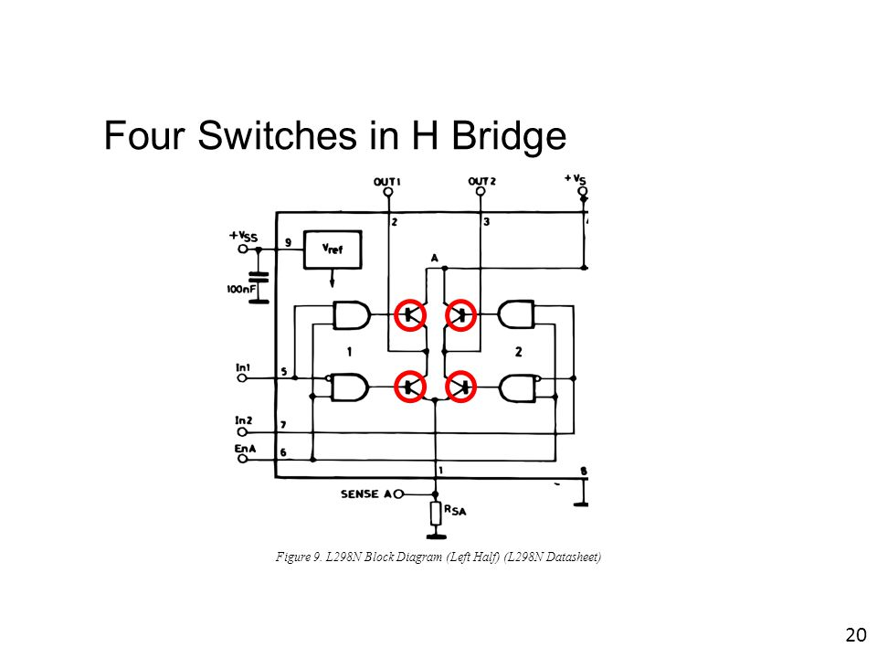 four switches in h bridge