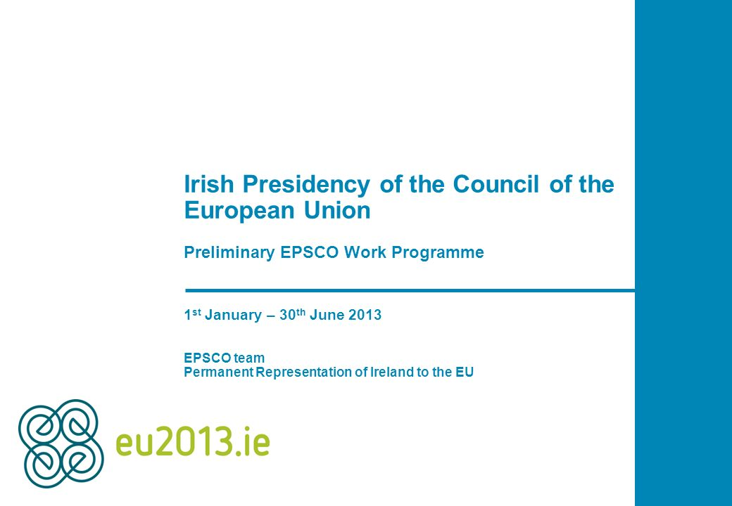 Irish Presidency of the Council of the European Union