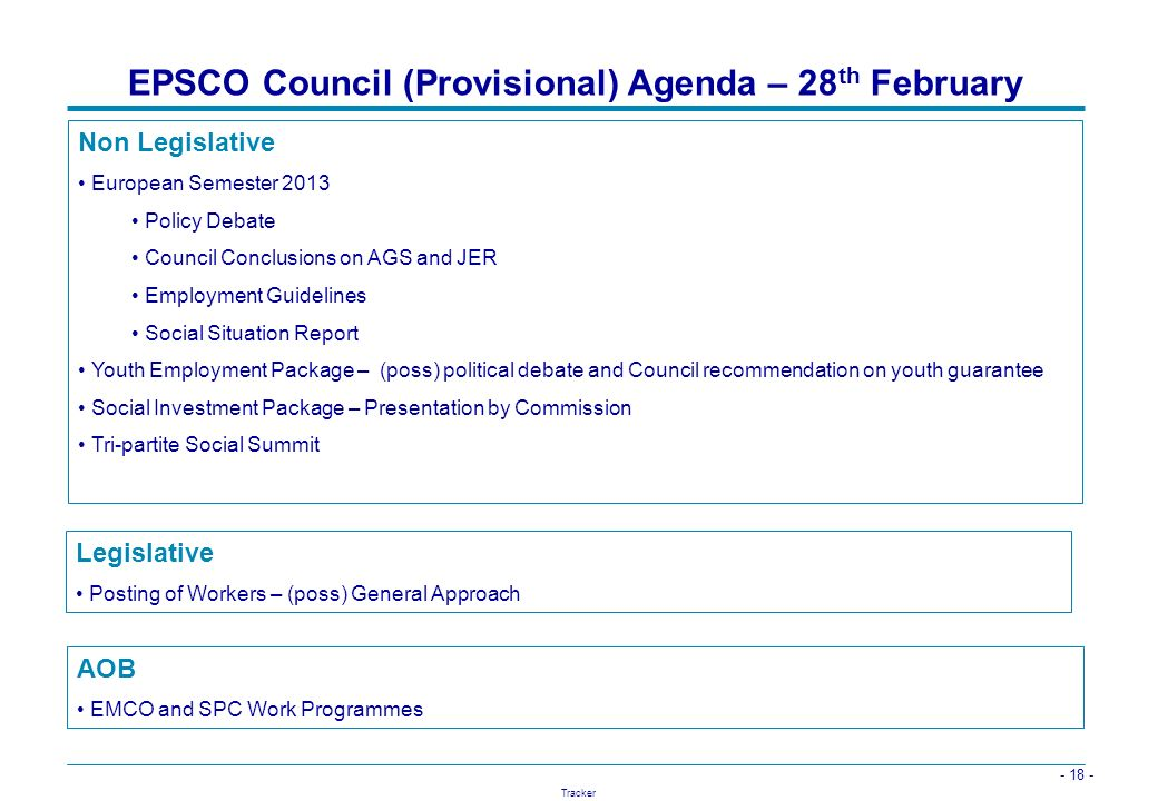 EPSCO Council (Provisional) Agenda – 28th February