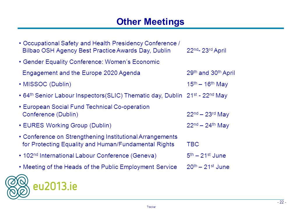 Other Meetings Occupational Safety and Health Presidency Conference /