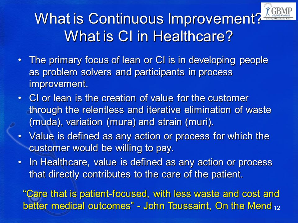 What is Continuous Improvement What is CI in Healthcare