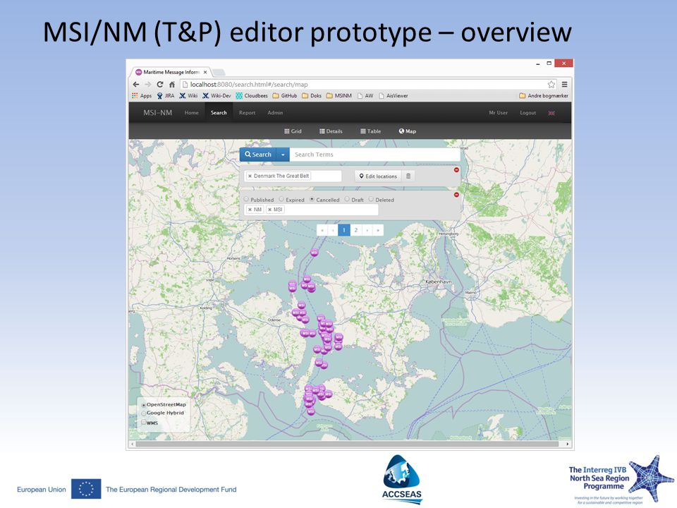 MSI/NM (T&P) editor prototype – overview