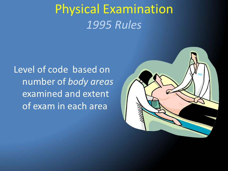 Physical Examination 1995 Rules