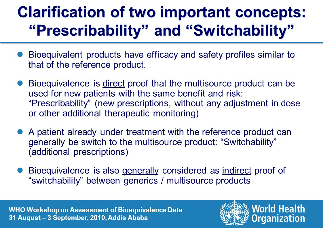 Clarification of two important concepts: Prescribability and Switchability