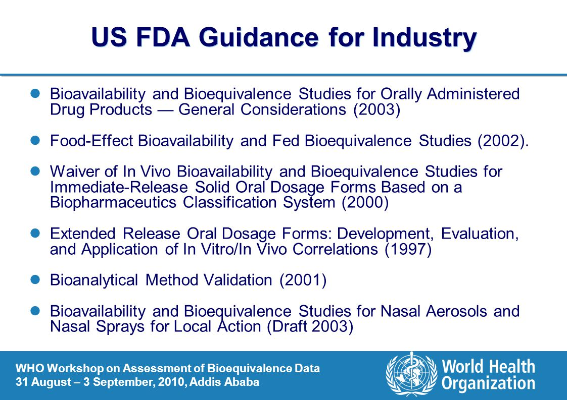 US FDA Guidance for Industry