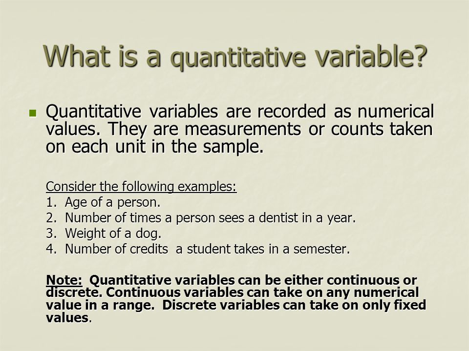 What is a quantitative variable