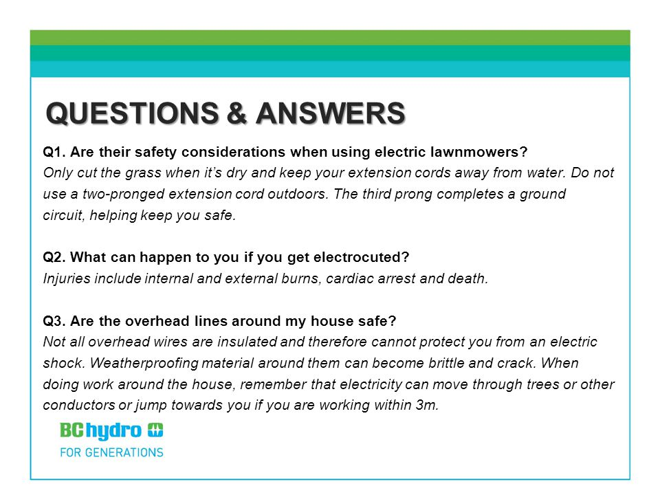 Electrical Safety Scenarios - ppt download