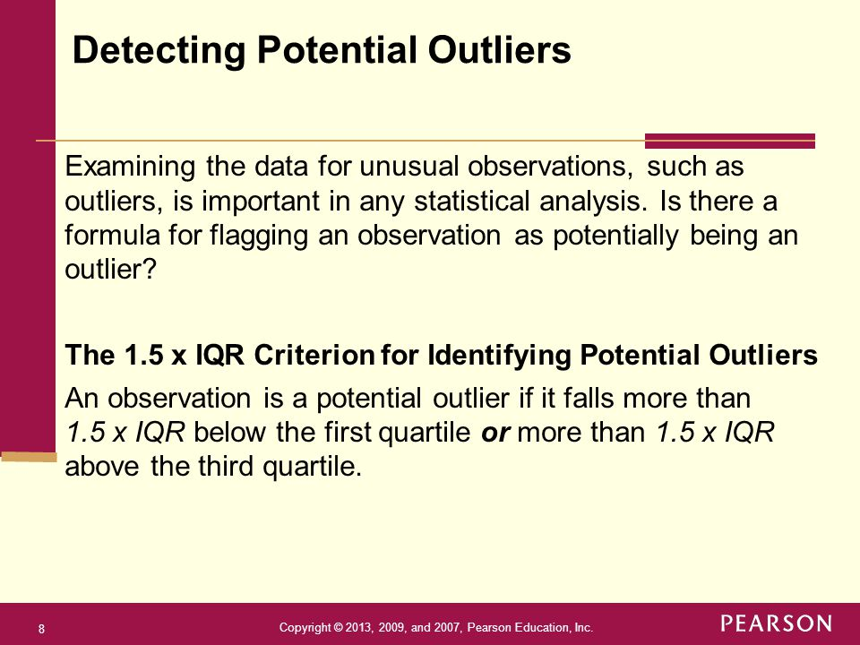 Detecting Potential Outliers