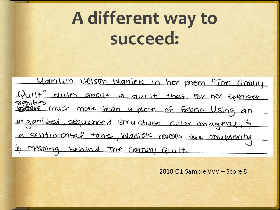A different way to succeed: