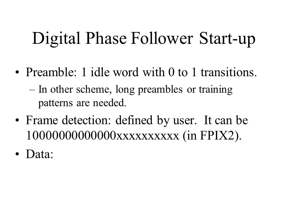Digital Phase Follower Start-up