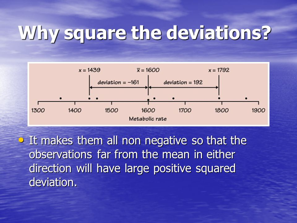 Why square the deviations
