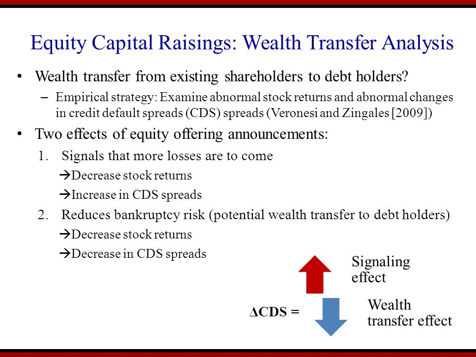 Equity Capital Raisings: Wealth Transfer Analysis