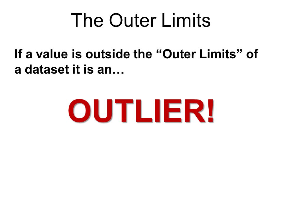 OUTLIER! The Outer Limits