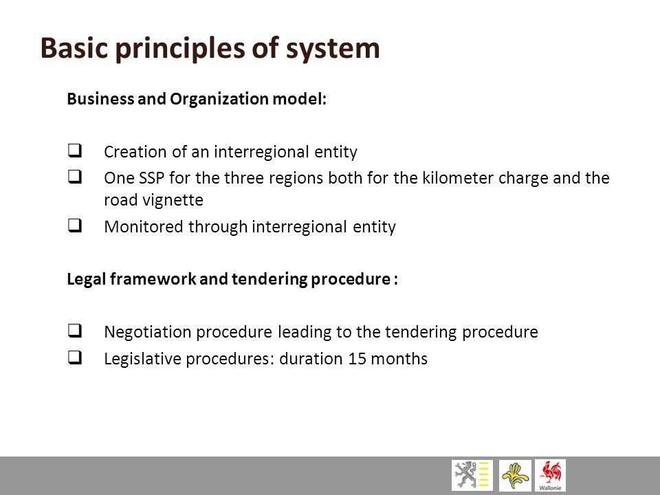 Basic principles of system