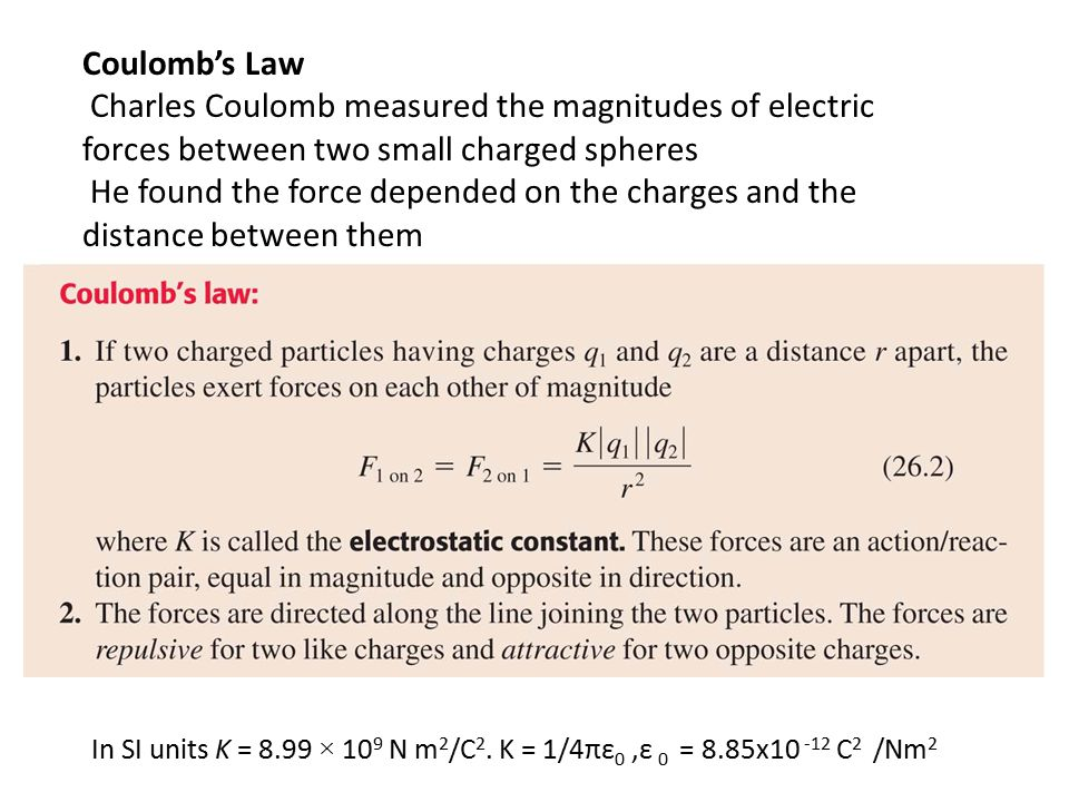 Charles Coulomb measured the magnitudes of electric