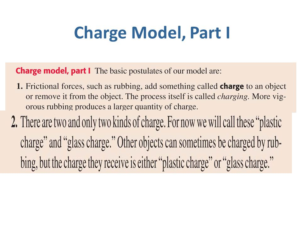 Charge Model, Part I