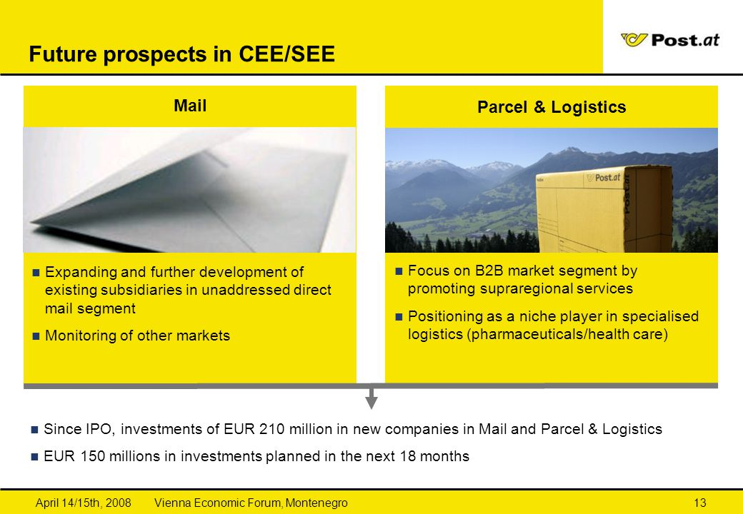 Future prospects in CEE/SEE