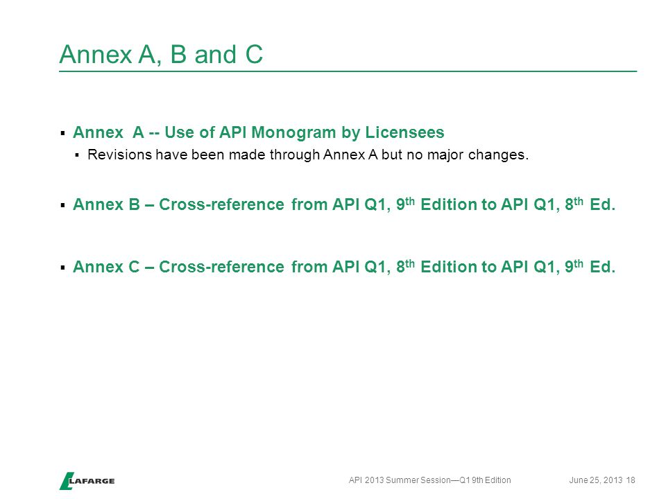 Annex A, B and C Annex A -- Use of API Monogram by Licensees