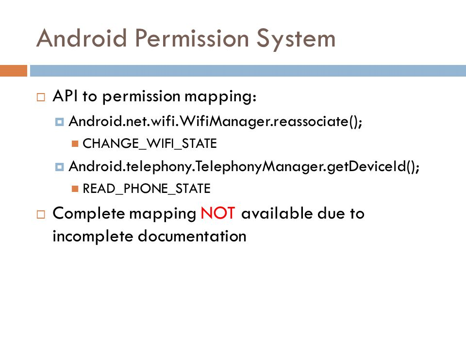 PScout: Analyzing the Android Permission Specification - ppt download