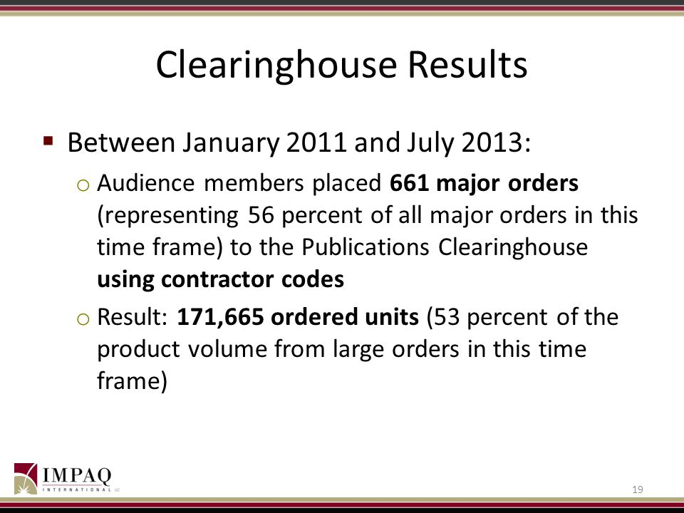 Clearinghouse Results