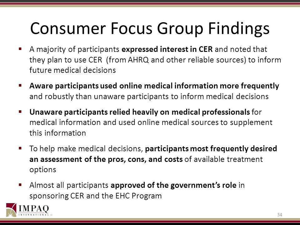 Consumer Focus Group Findings
