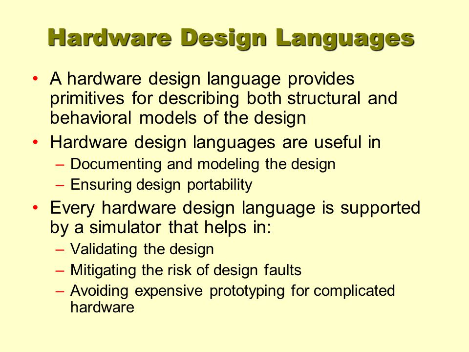 Hardware Design Languages