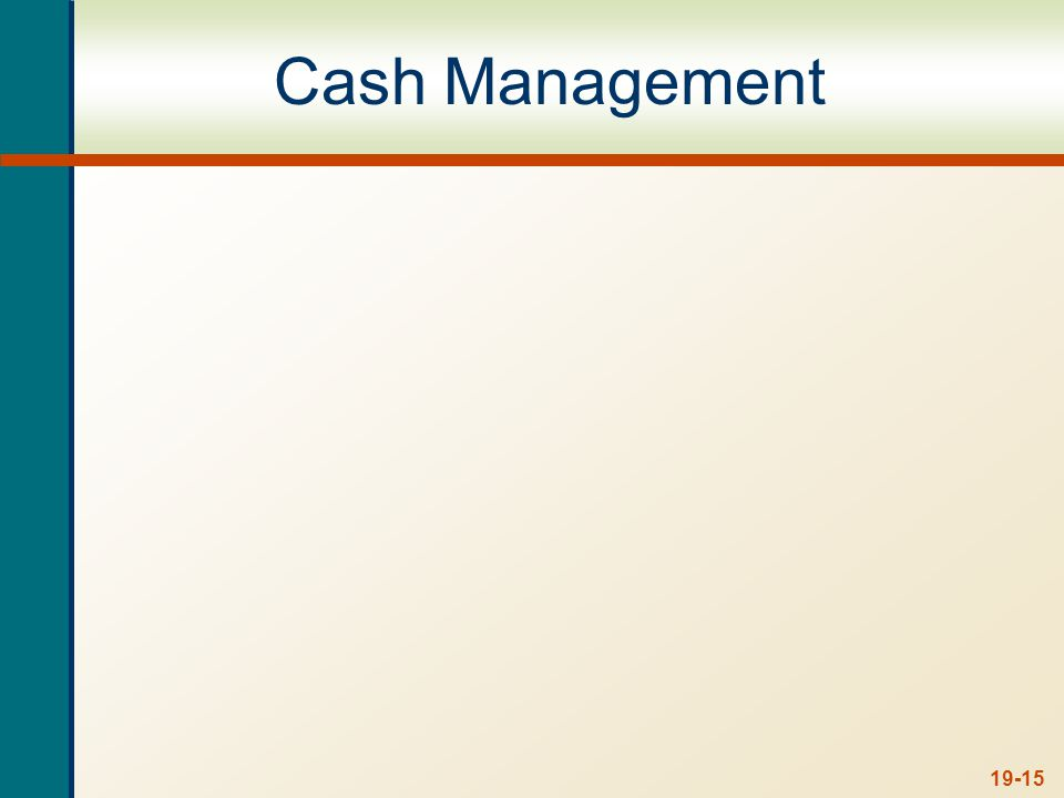 Target Cash Balances Target cash balance – desired cash level determined by trade-off between carrying costs and shortage costs.