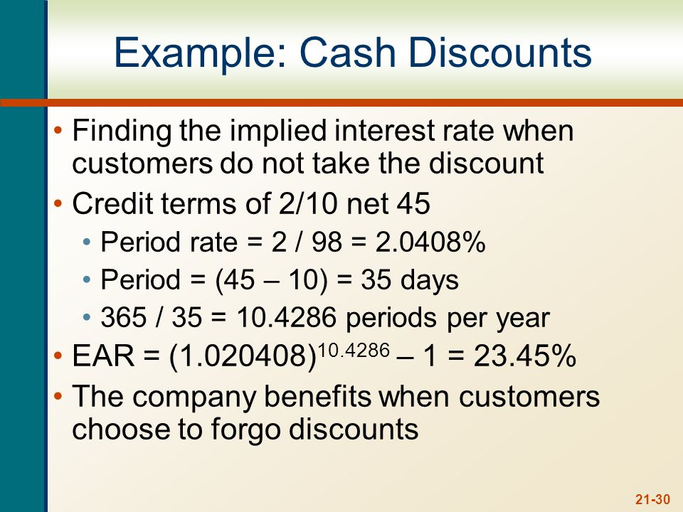 Credit Policy Effects Revenue Effects Cost Effects