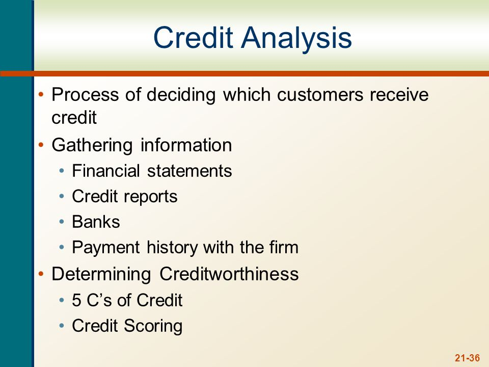 Five Cs of Credit Character – willingness to meet financial obligations.