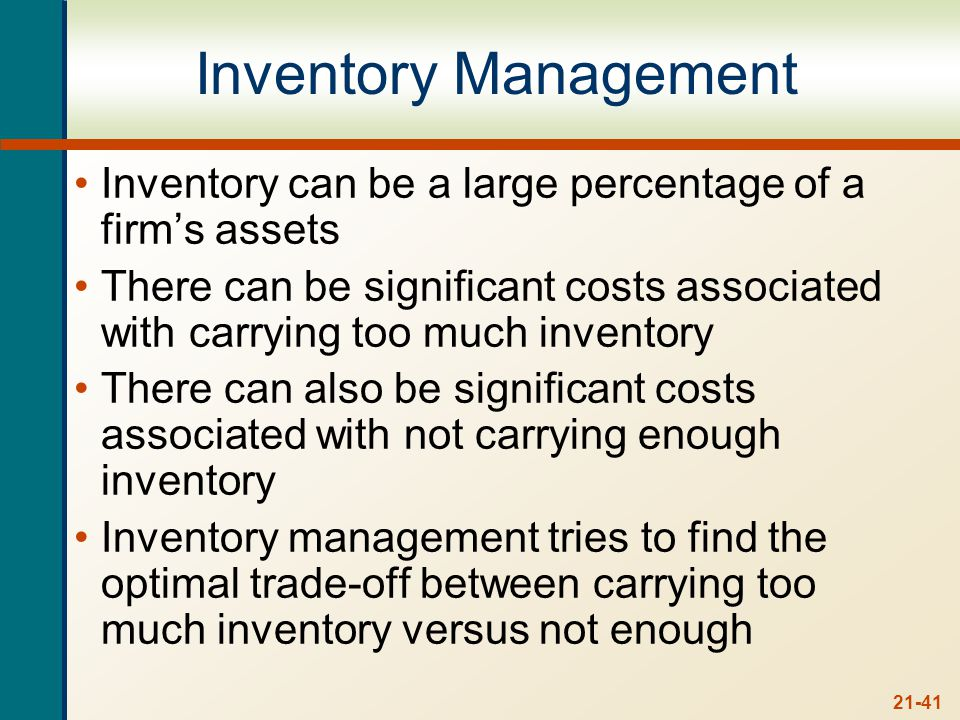 Types of Inventory Manufacturing firm
