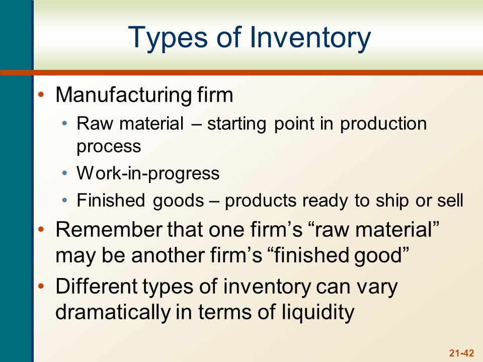 Inventory Costs Carrying costs – range from 20 – 40% of inventory value per year. Storage and tracking.