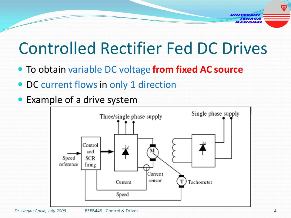 Controlled Rectifier Fed DC Drives