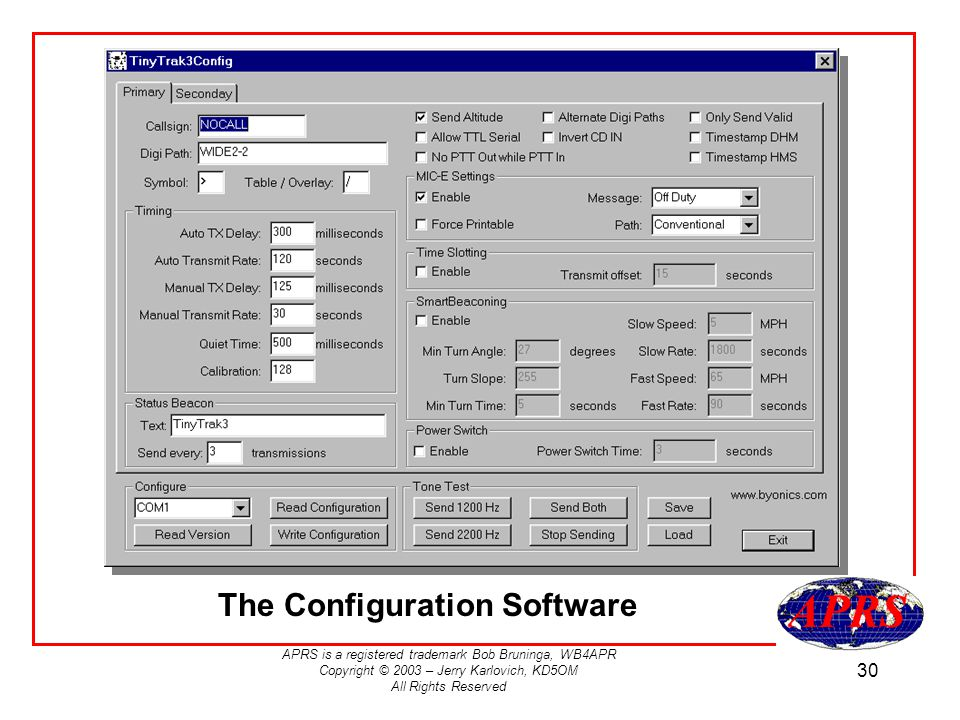The Configuration Software