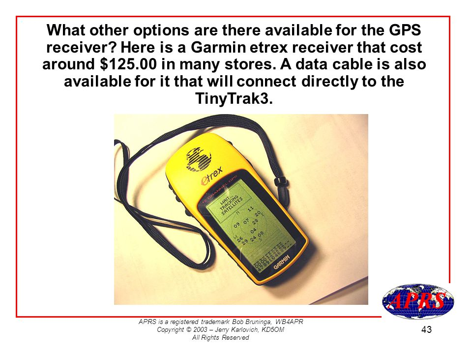 What other options are there available for the GPS receiver
